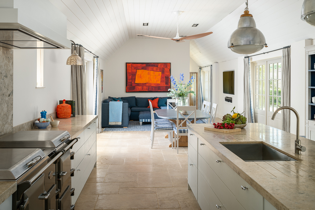 country styled white kitchen