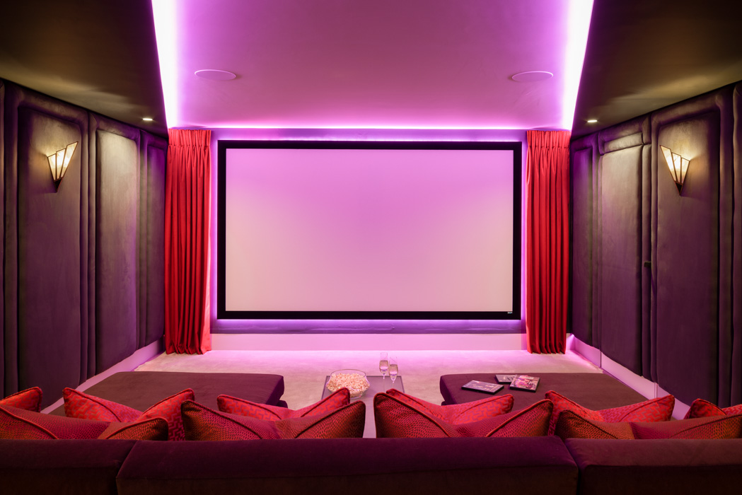 harriet hughes red cinema room interior