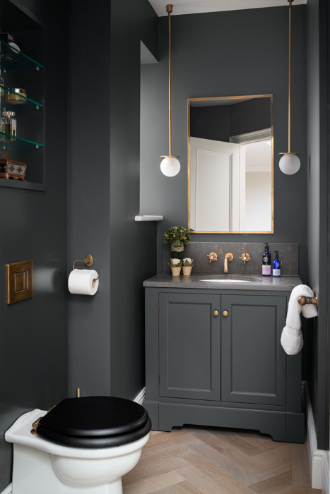 grey bathroom decor harriet hughes design
