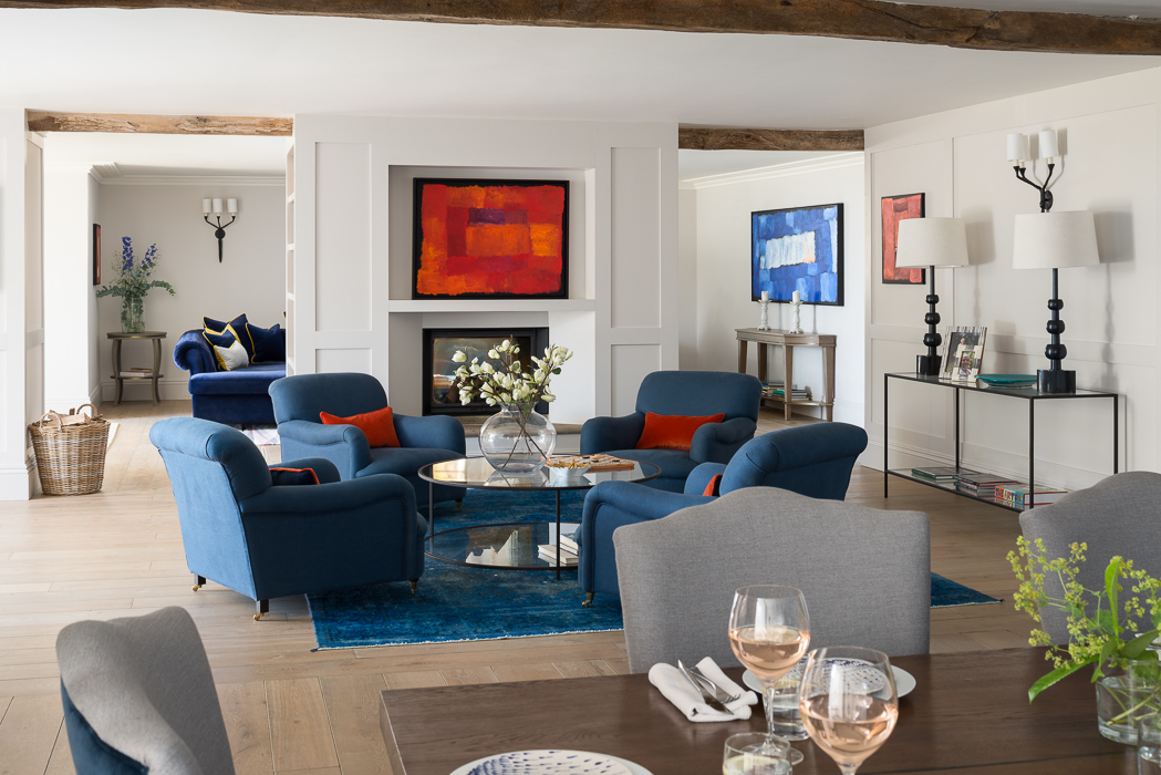 blue livingroom photo