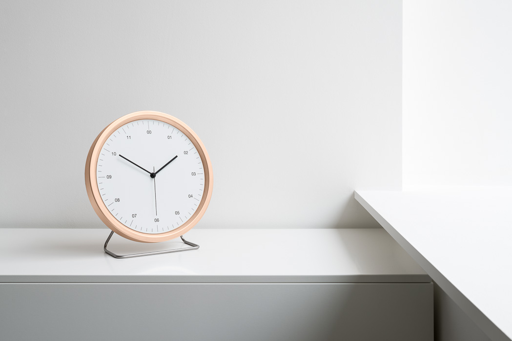 zac and zac product photography of clock