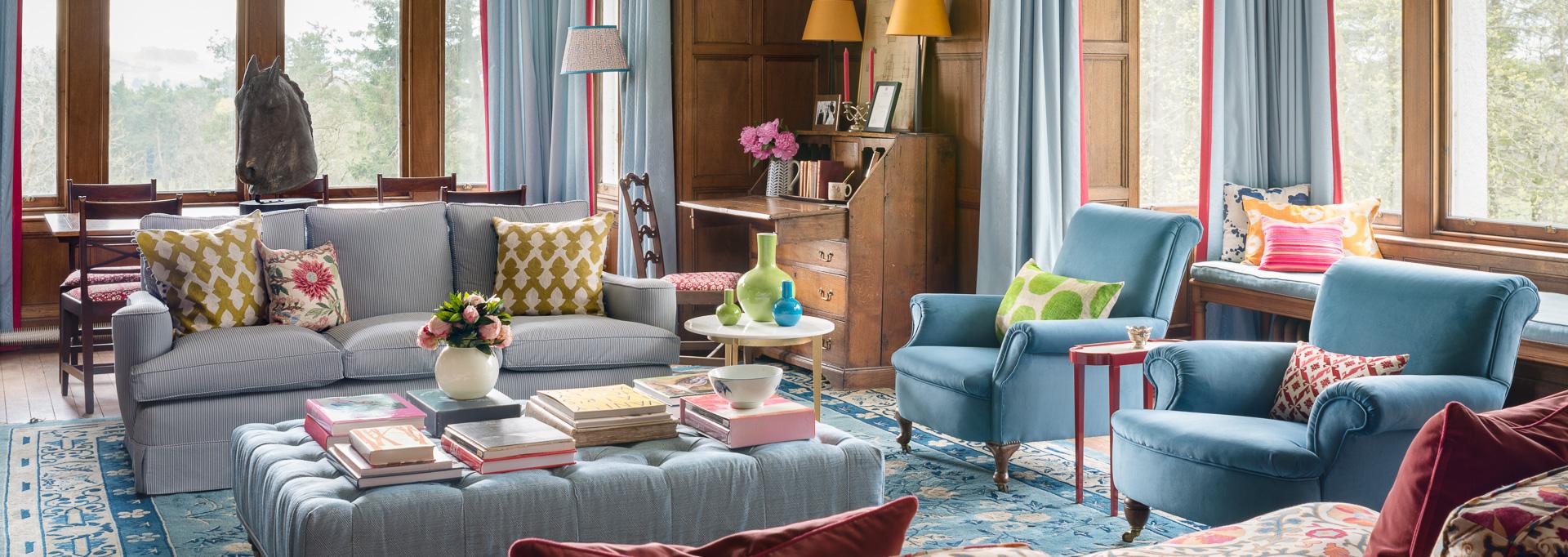 jessica buckley blue couched interior design