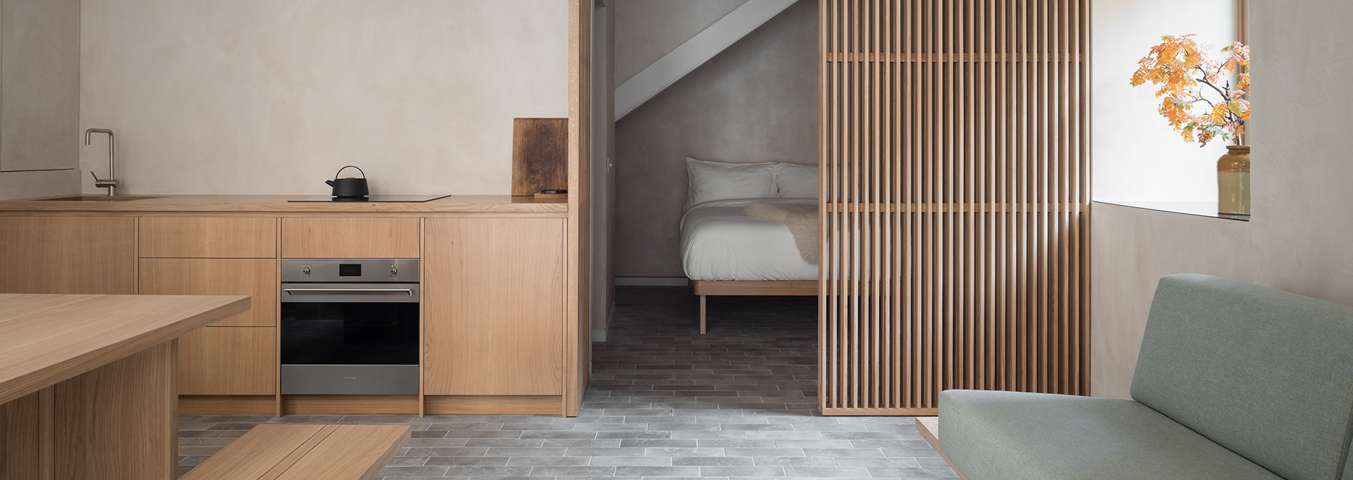 porteous studio wooden open plan space
