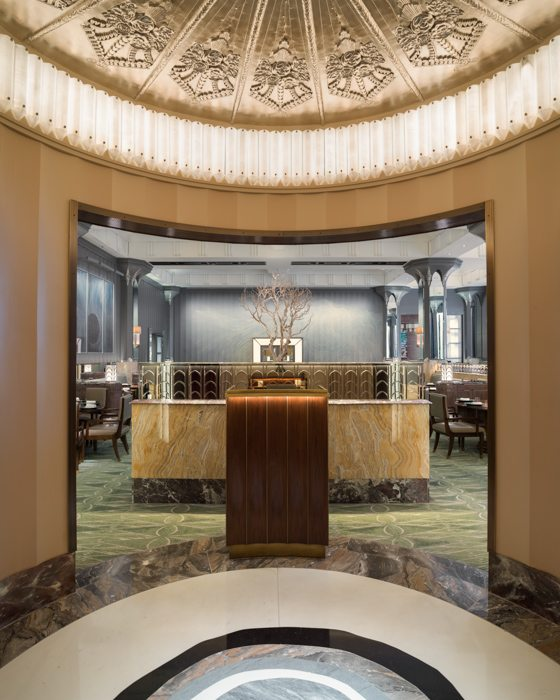 rotunda entrance restaurant michelin star oliver laws