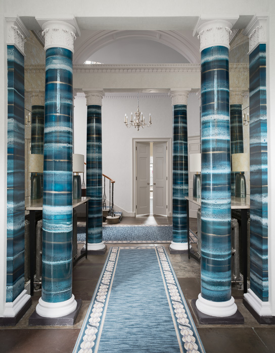 blue hallway decor malcolm duffin