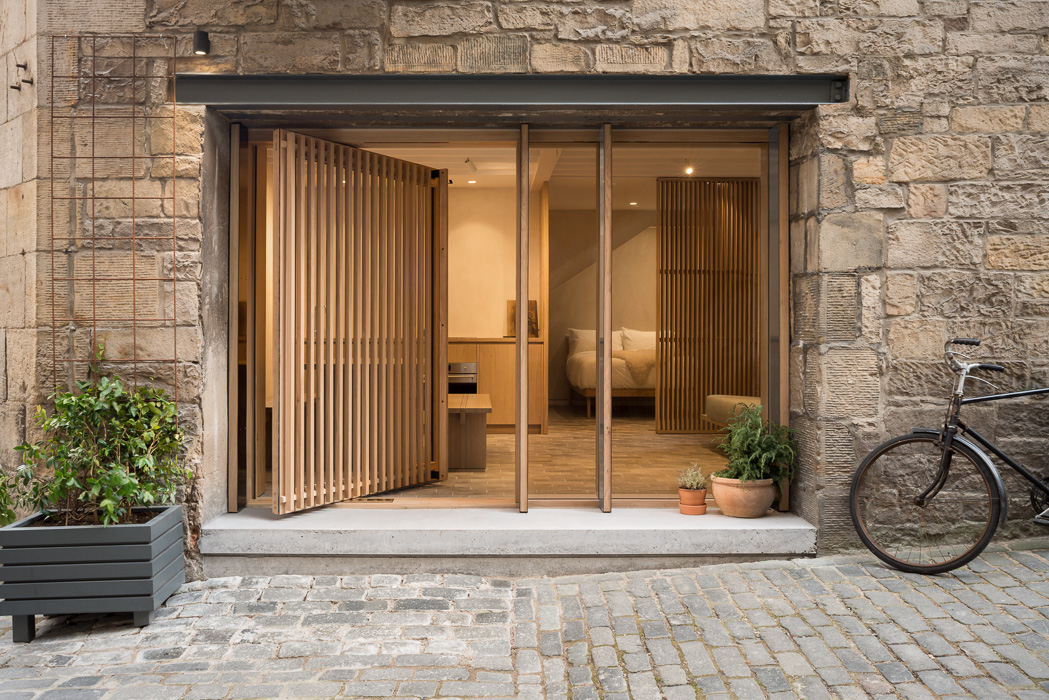 property photography with open glass doors