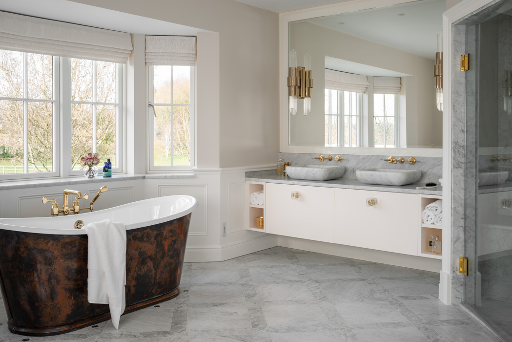 harriet hughes marble bathroom design