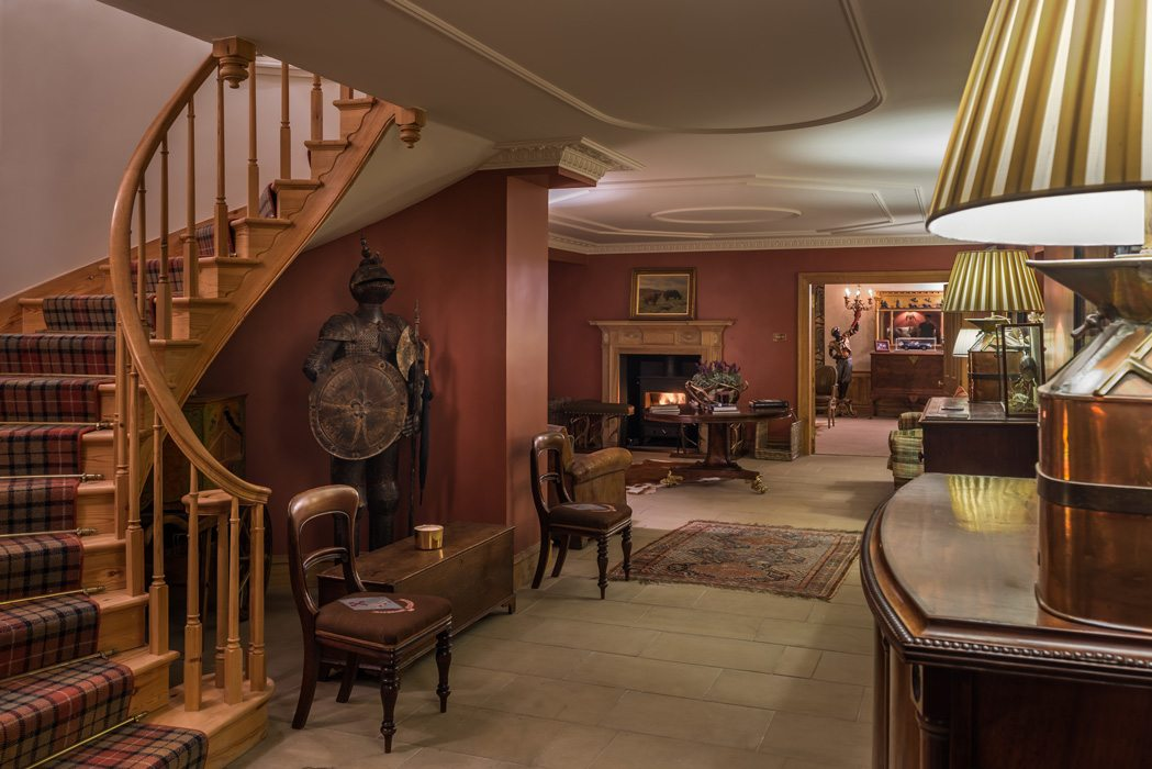Laudale Estate Interior Red Traditional Design Hallway Scotland