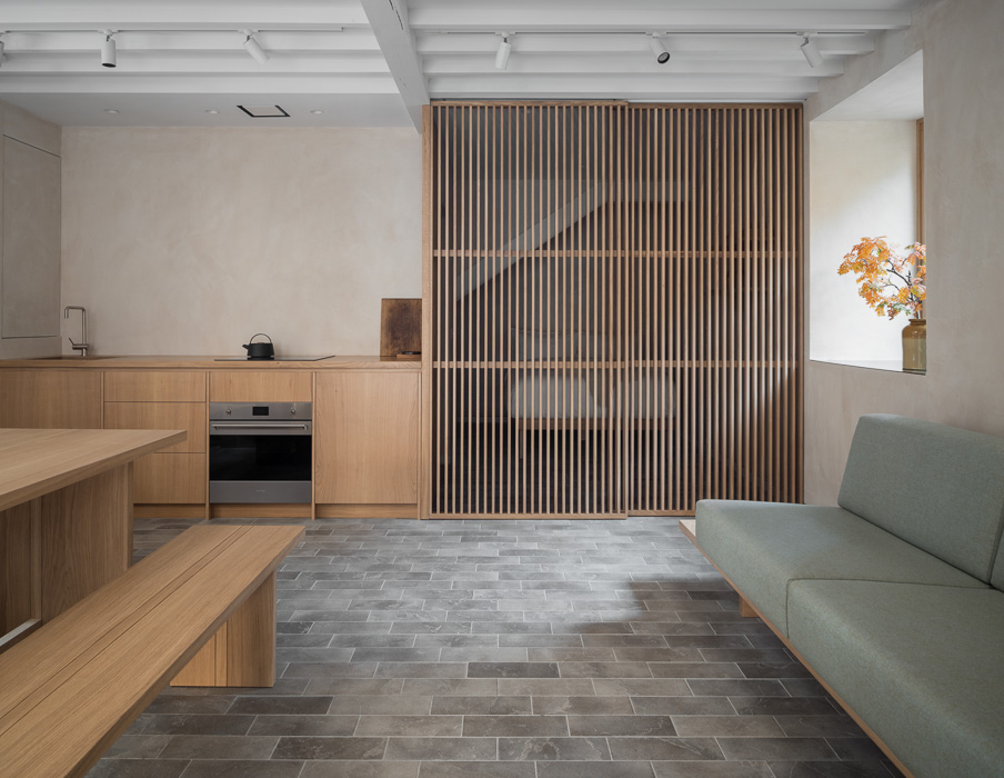 Porteous studio with wooden detailing