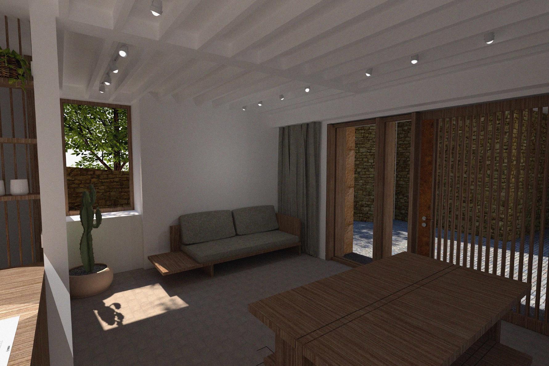 porteous studio interior wooden