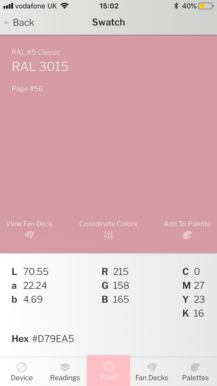 colour reader pink