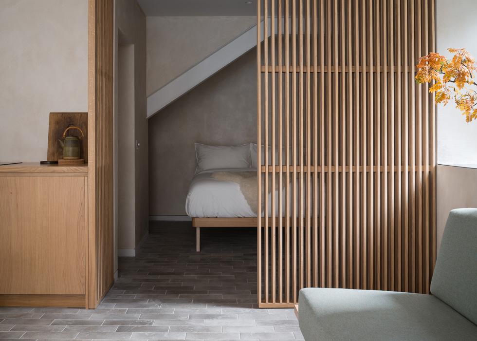 Porteous studio wooden interior