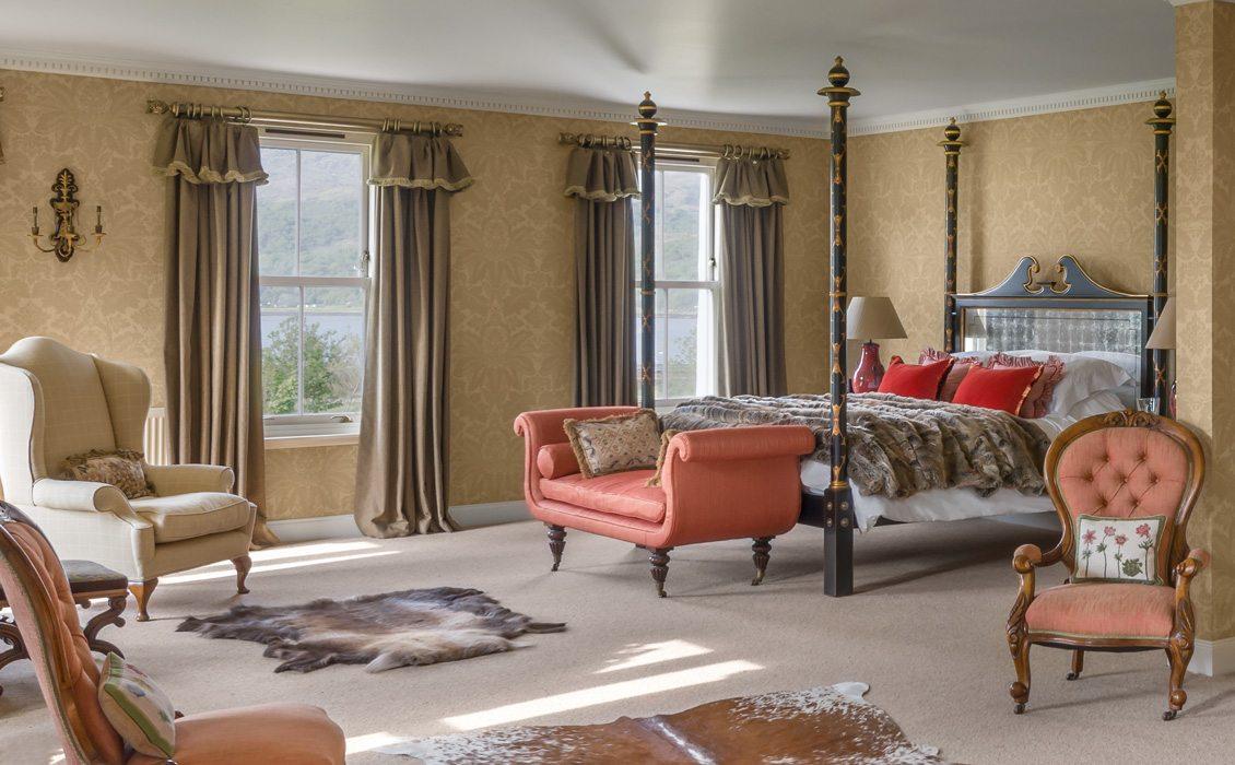 Laudale Estate Scotland Interior Design Traditional Photograph Gold Wallpaper