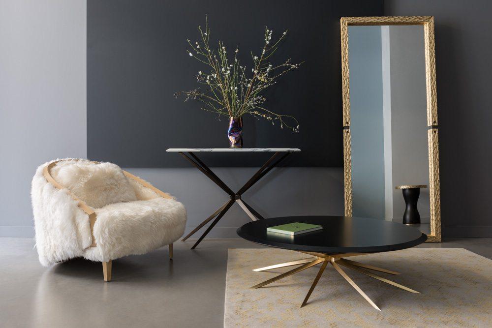 Designer Furniture Luxury Chair Table Plant