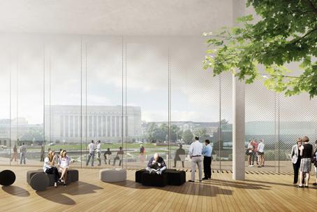 Keskustakirjasto Sisa Architecture window with a view
