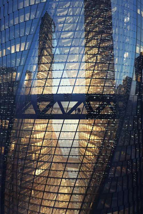Leeza Soho Dusk Architecture structure