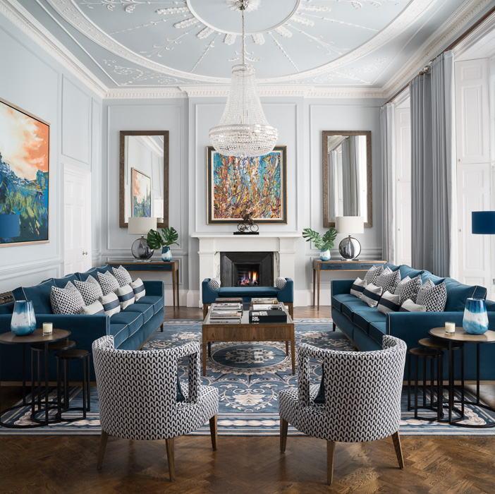 malcolm duffin design interior with charlotte james furniture blue interior