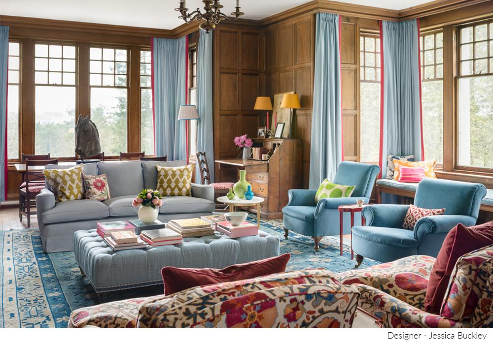 Canon camera blue living room photoshoot